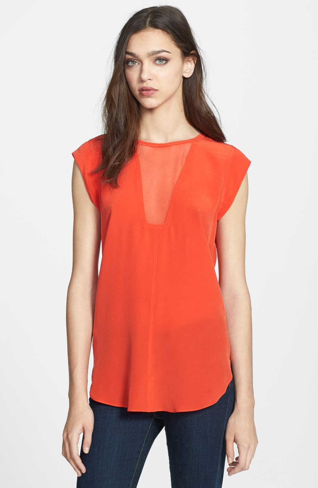 Alternate Image 1 Selected - Rebecca Taylor Silk Top