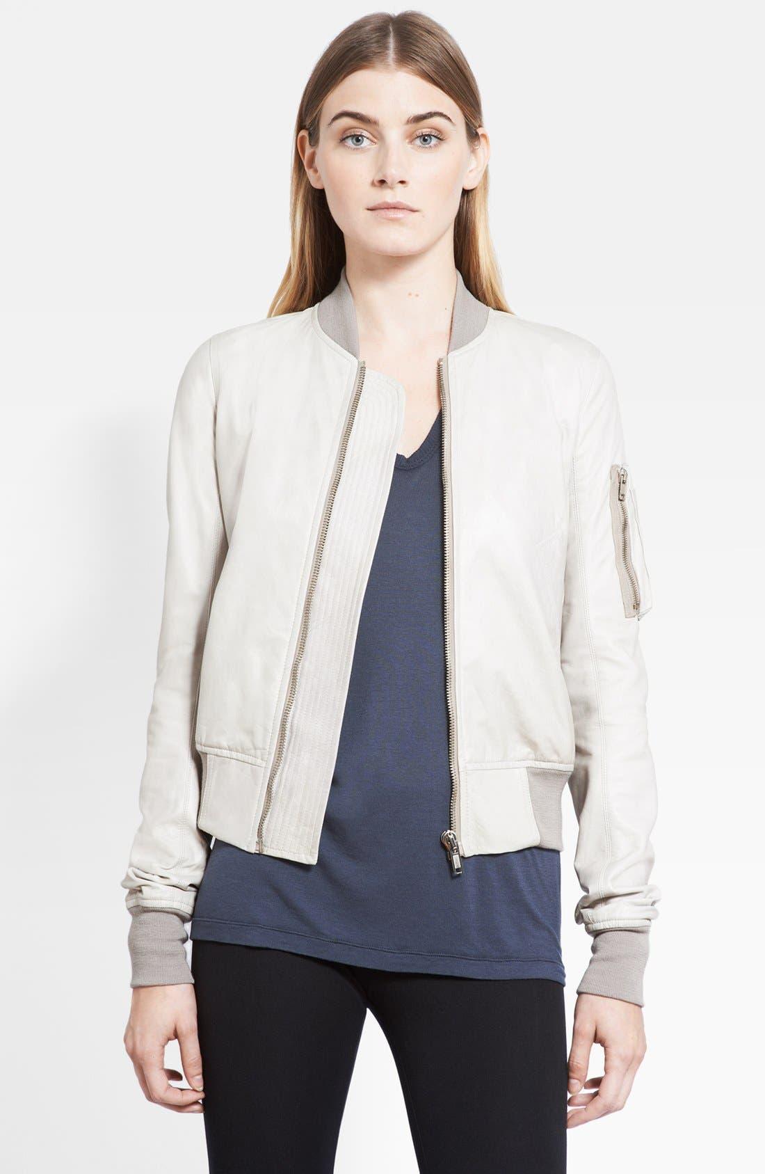 Alternate Image 1 Selected - Rick Owens Leather Bomber Jacket