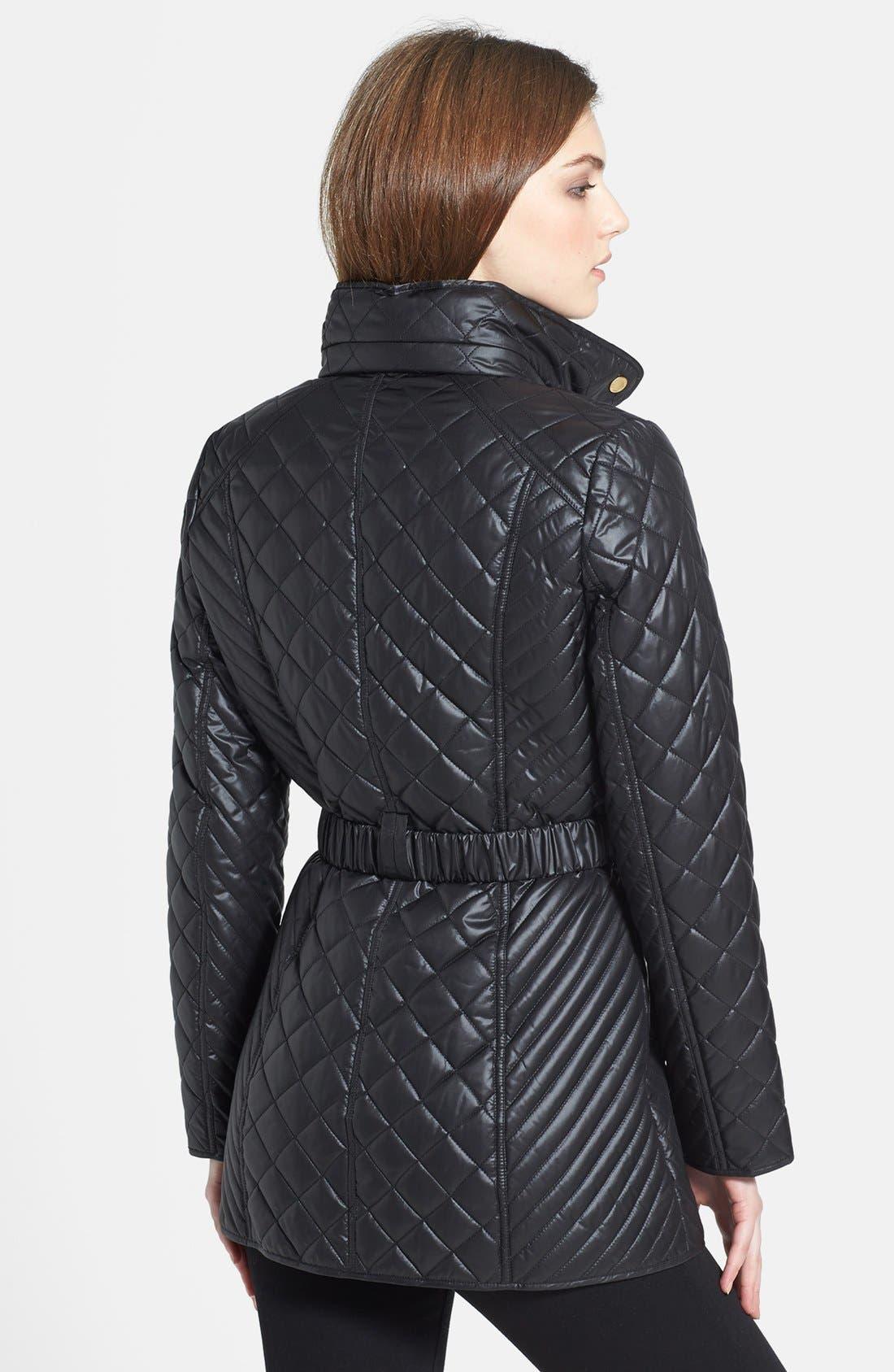 Alternate Image 2  - Ellen Tracy Belted Quilted Jacket (Online Only)