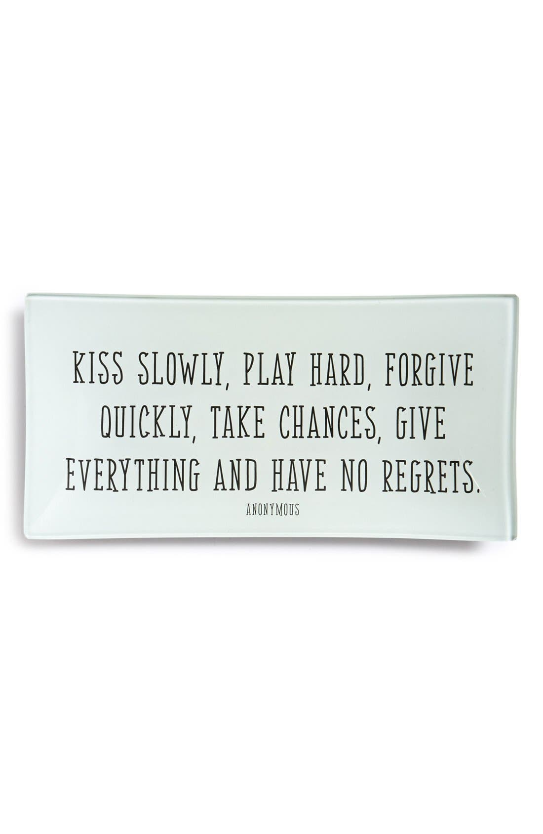 Main Image - Ben's Garden 'Kiss Slowly' Decorative Glass Tray