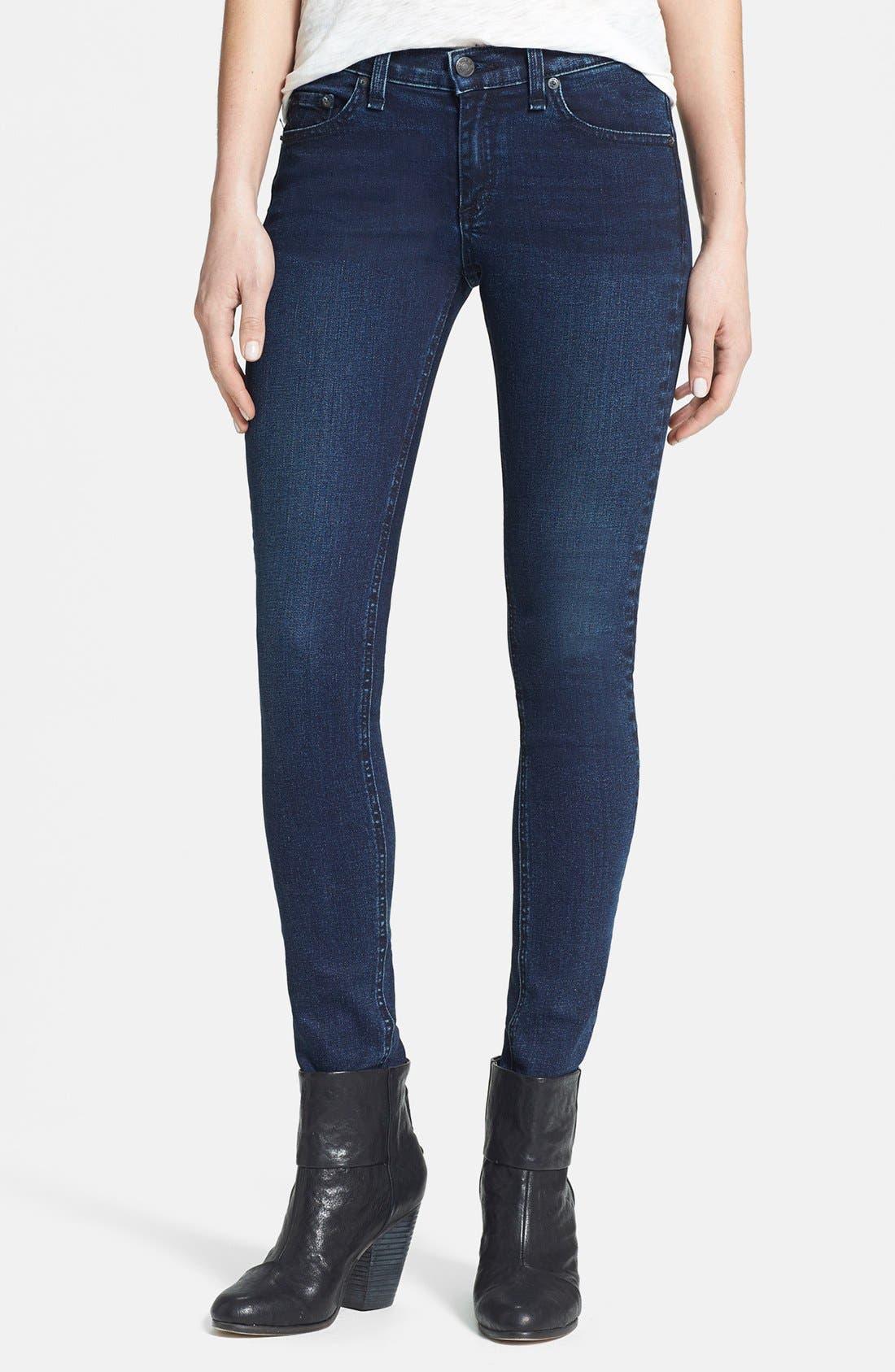 Alternate Image 1 Selected - rag & bone/JEAN Skinny Stretch Jeans (Coronado)