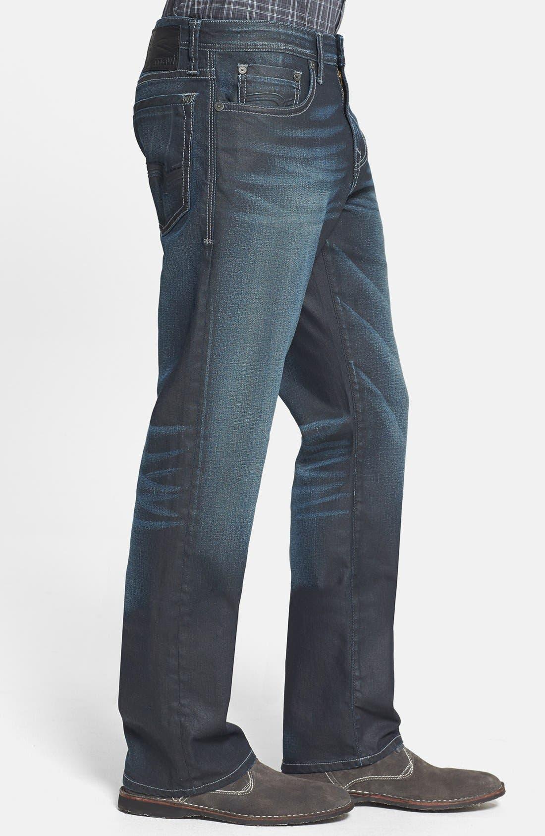 Alternate Image 3  - Mavi Jeans 'Matt' Relaxed Straight Leg Jeans (Coated Utah)