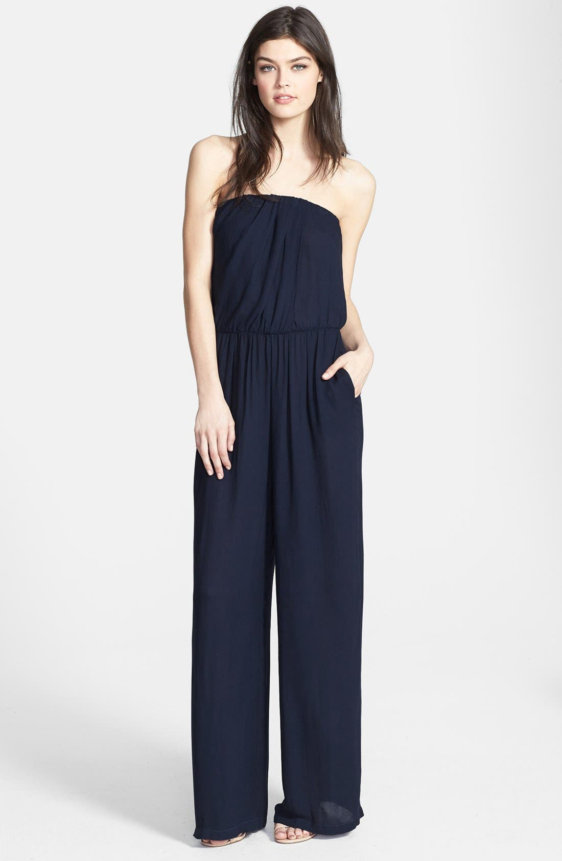 Main Image - Young, Fabulous & Broke 'Arie' Strapless Jumpsuit