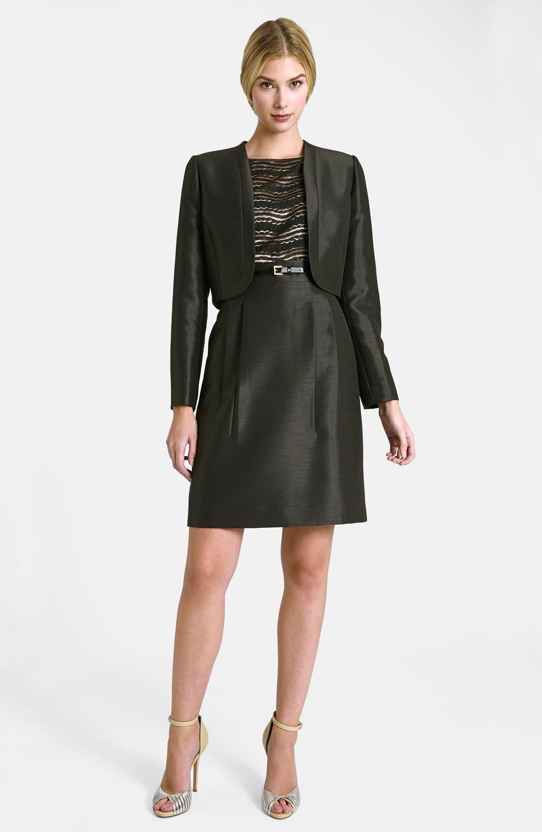 Alternate Image 1 Selected - Tahari Lace Bodice Dress & Jacket