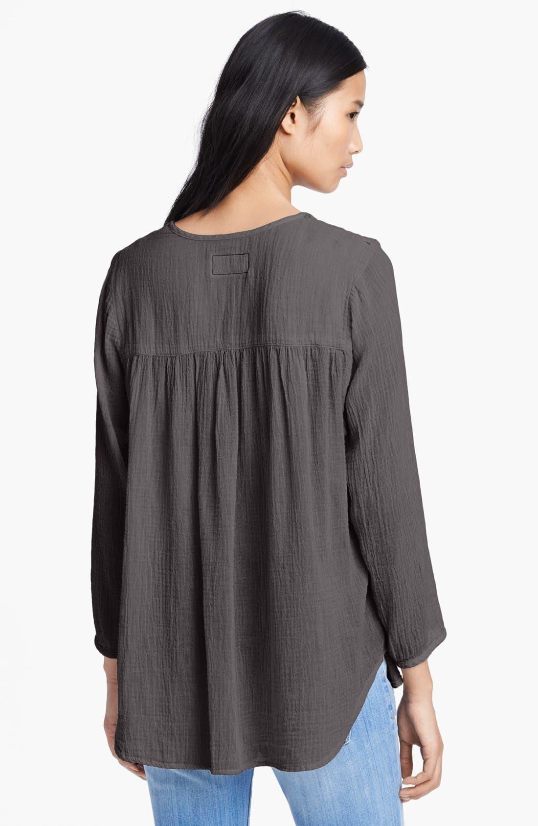 Alternate Image 2  - Current/Elliott 'The Picnic Shirt' Crochet Detail Top
