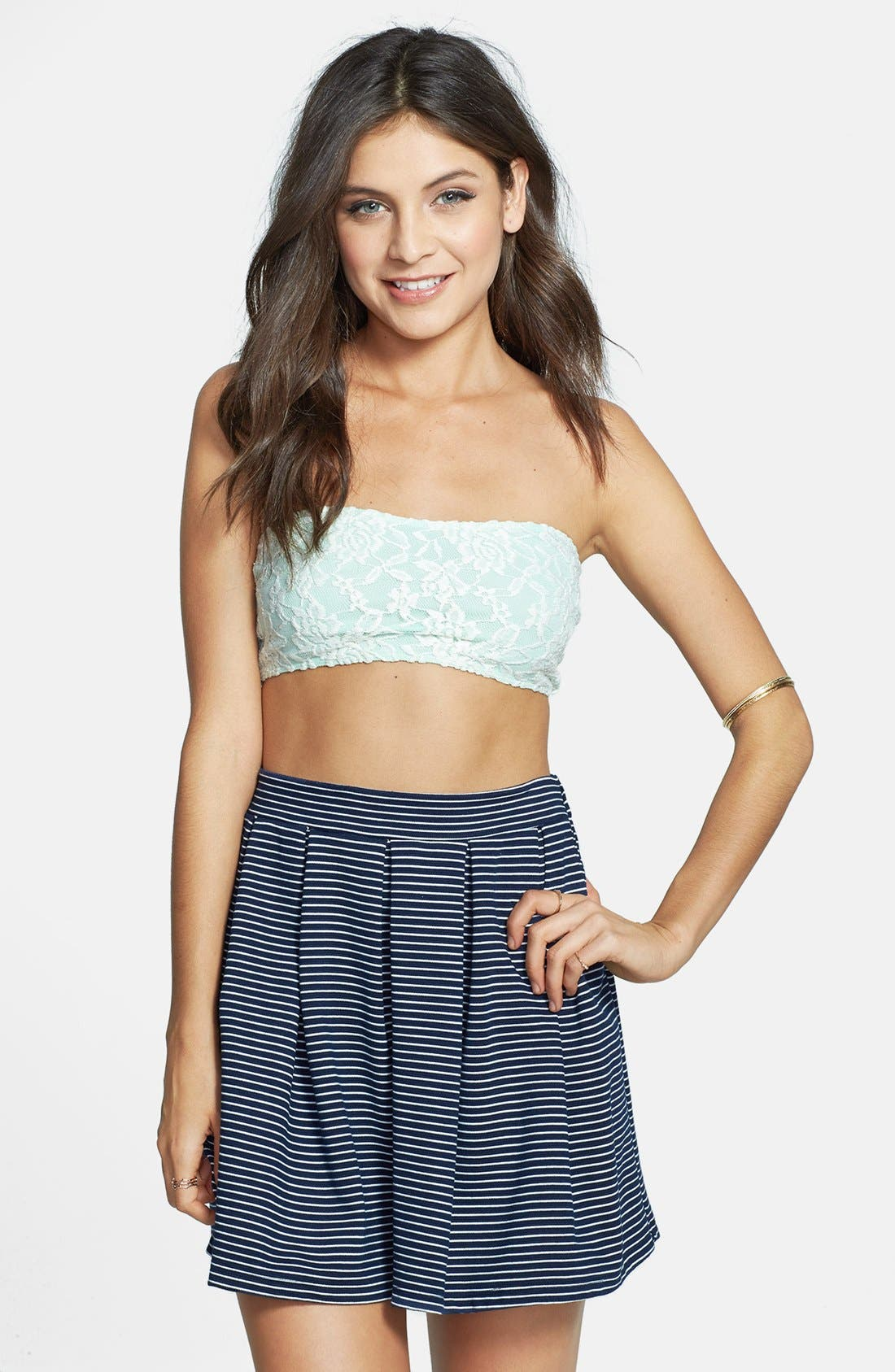 Alternate Image 1 Selected - Lush Lace Bandeau Top (Juniors)