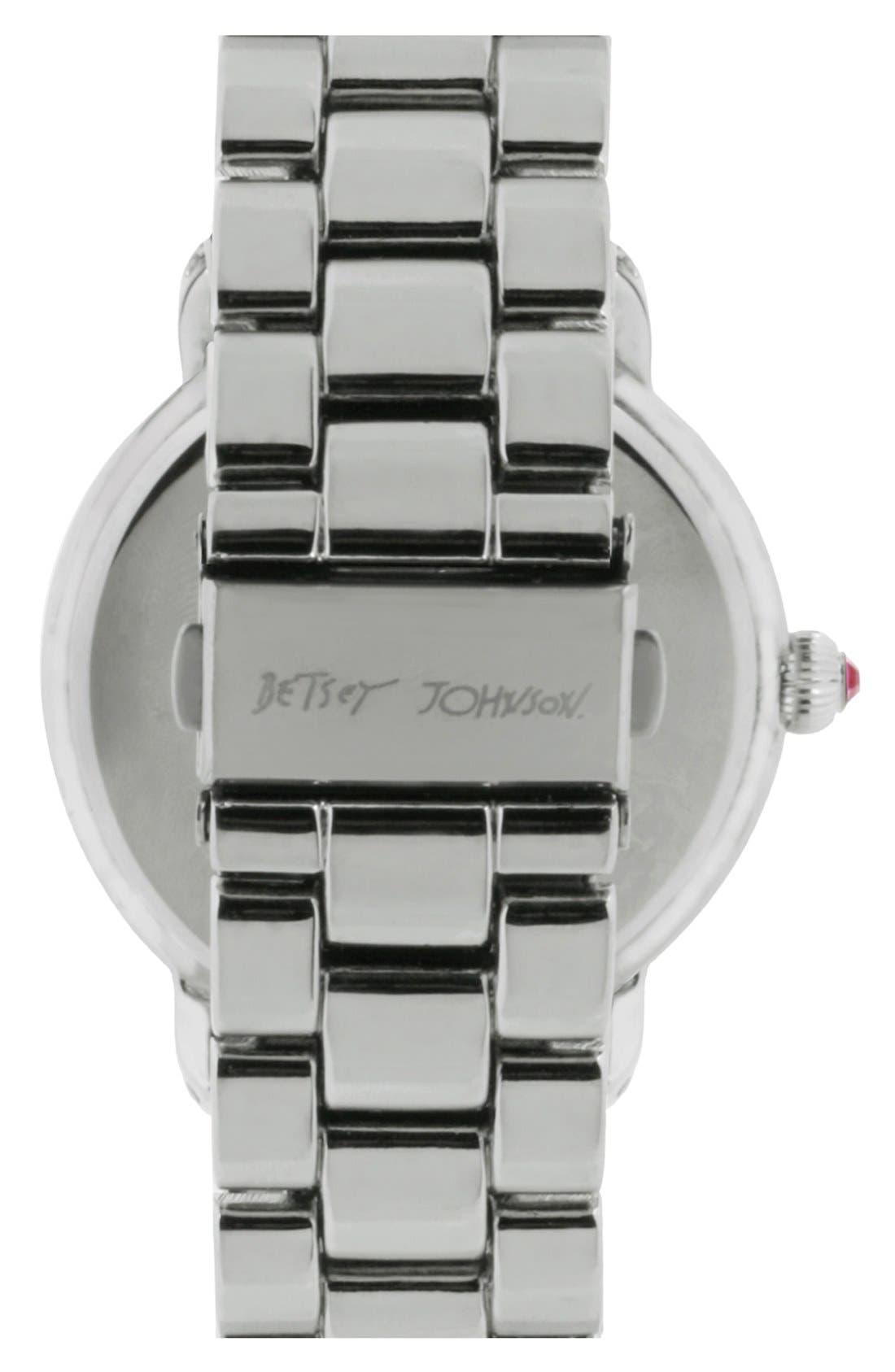 Alternate Image 2  - Betsey Johnson Pavé Bezel Bracelet Watch, 42mm