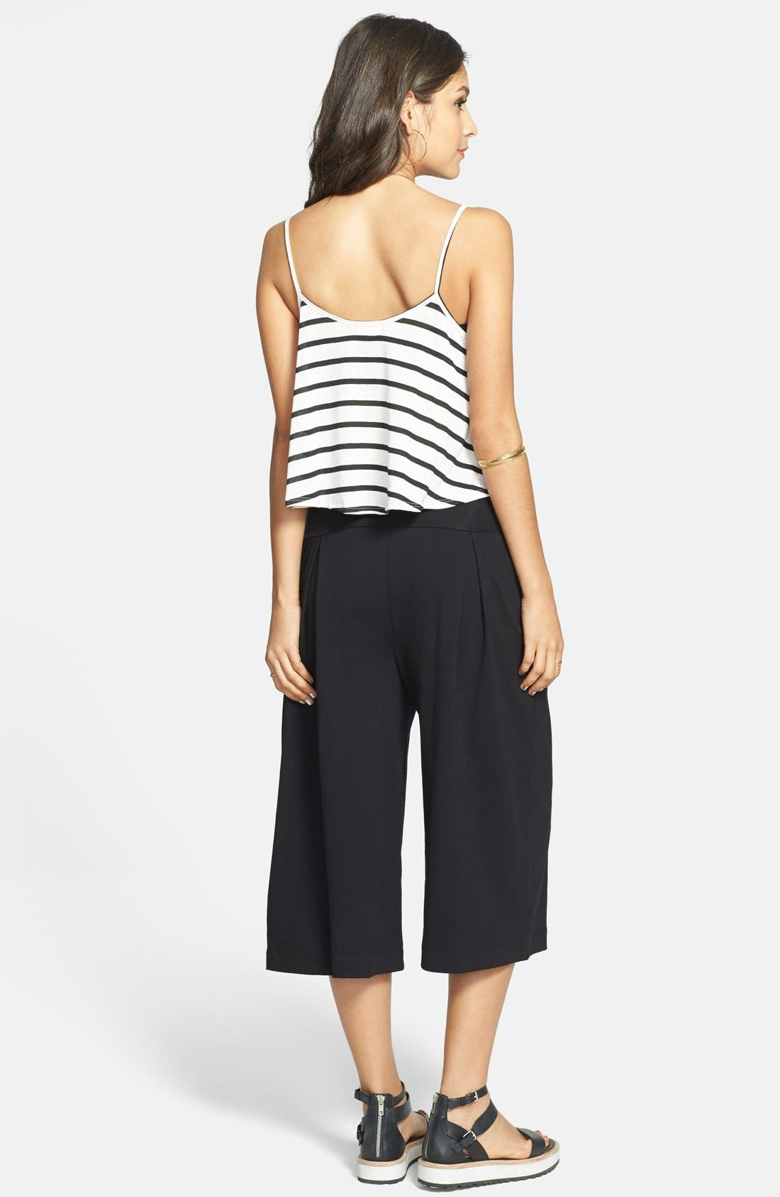 Alternate Image 2  - Lily White Pleat Gaucho Pants (Juniors) (Online Only)
