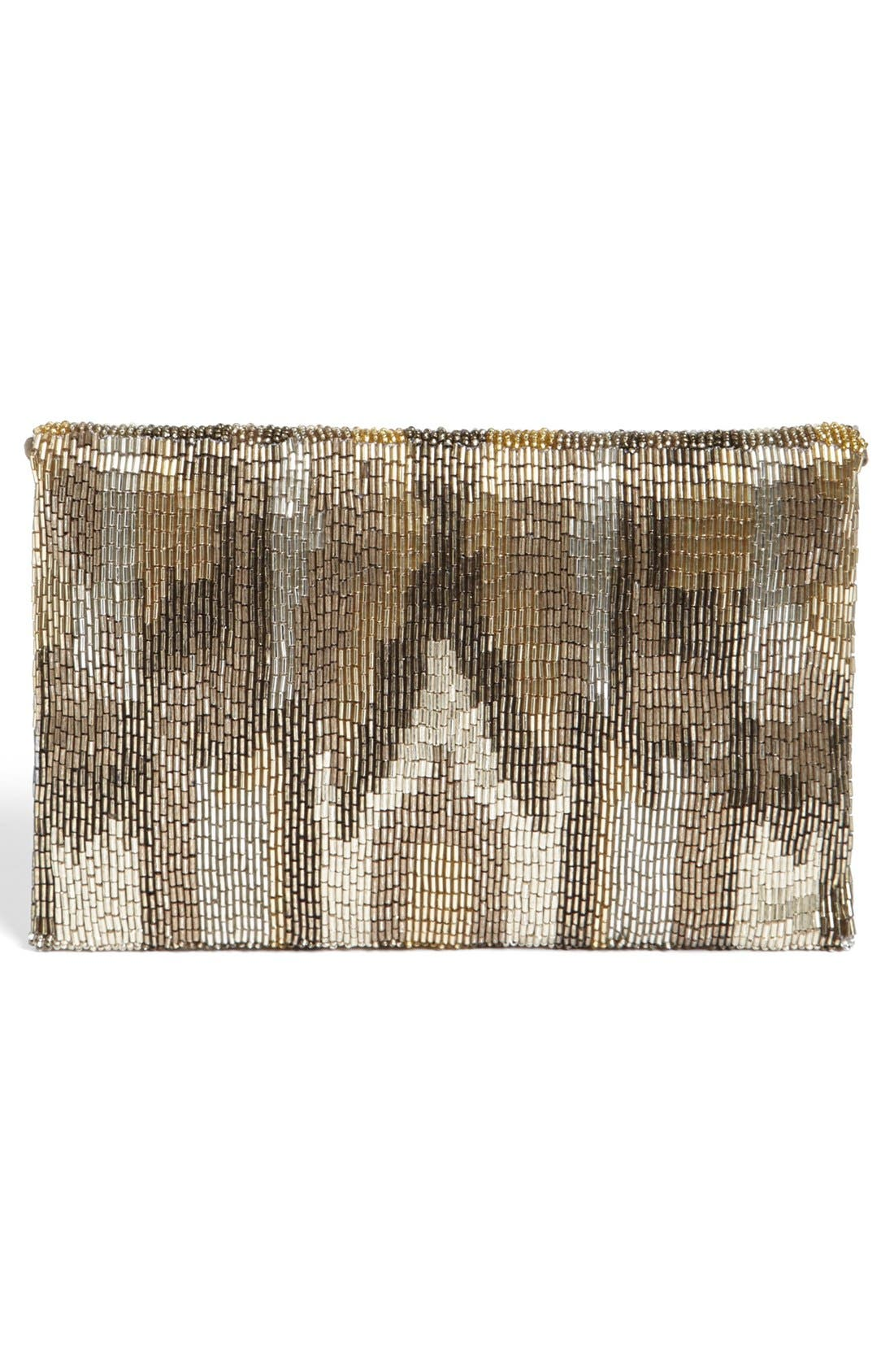 Alternate Image 4  - Moyna Camo Flap Silk Clutch