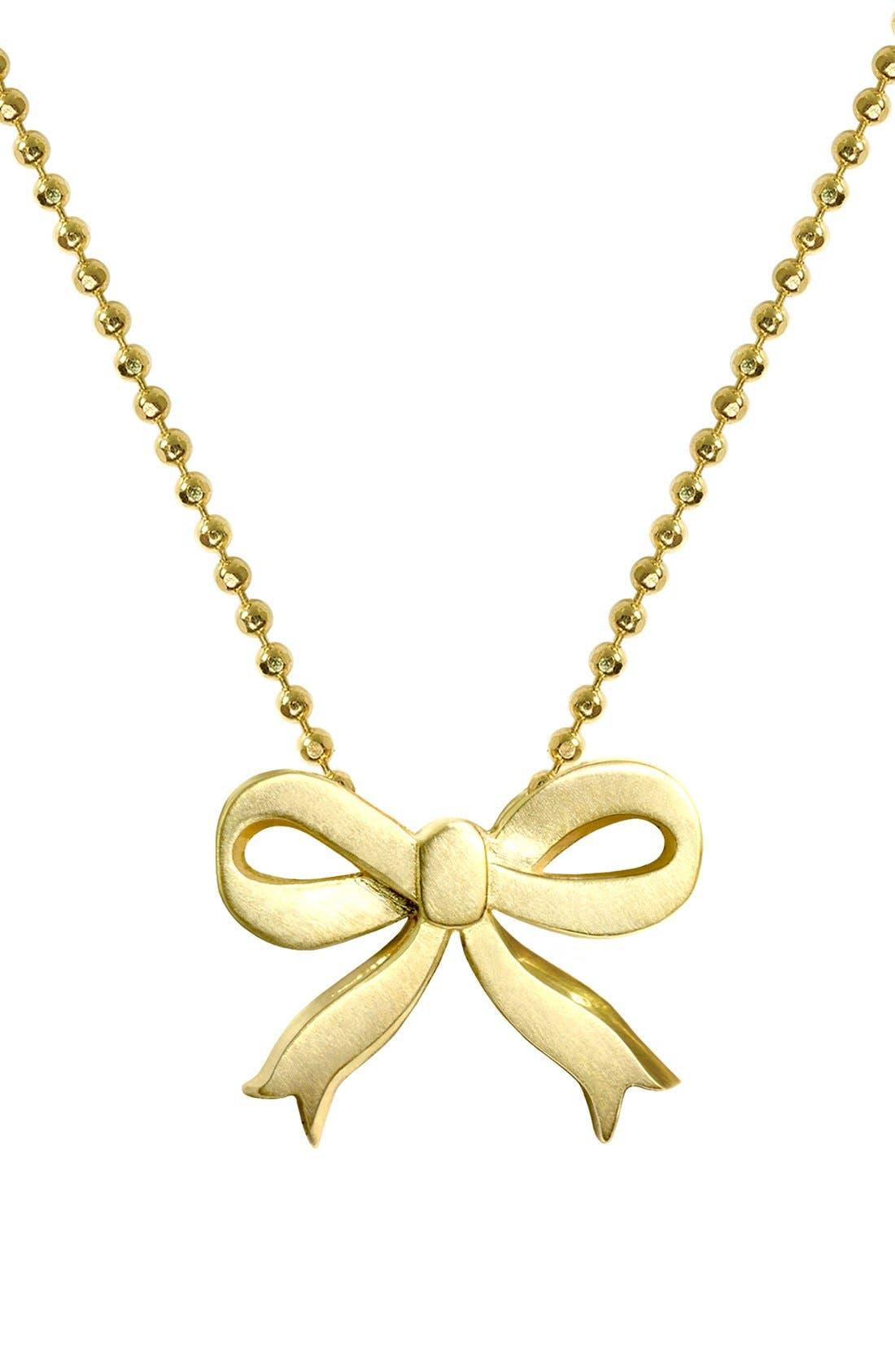 Alternate Image 1 Selected - Alex Woo 'Little Princess' Bow Pendant Necklace