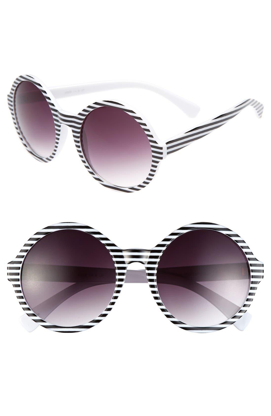 Main Image - FE NY 'Episode' 54mm Round Sunglasses