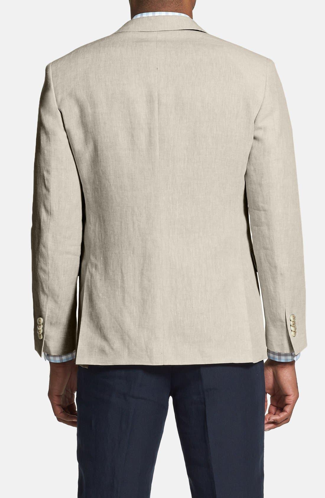 Alternate Image 2  - Nordstrom Men's Shop Trim Fit Linen Blazer