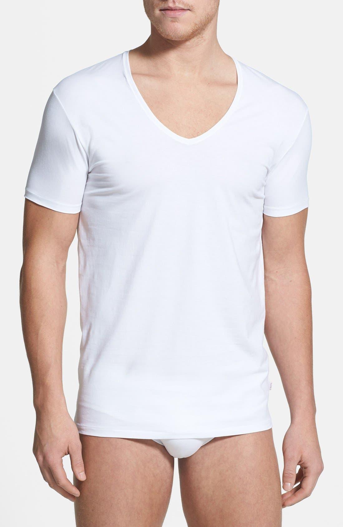 Main Image - Derek Rose 'Jack 1' Stretch V-Neck T-Shirt