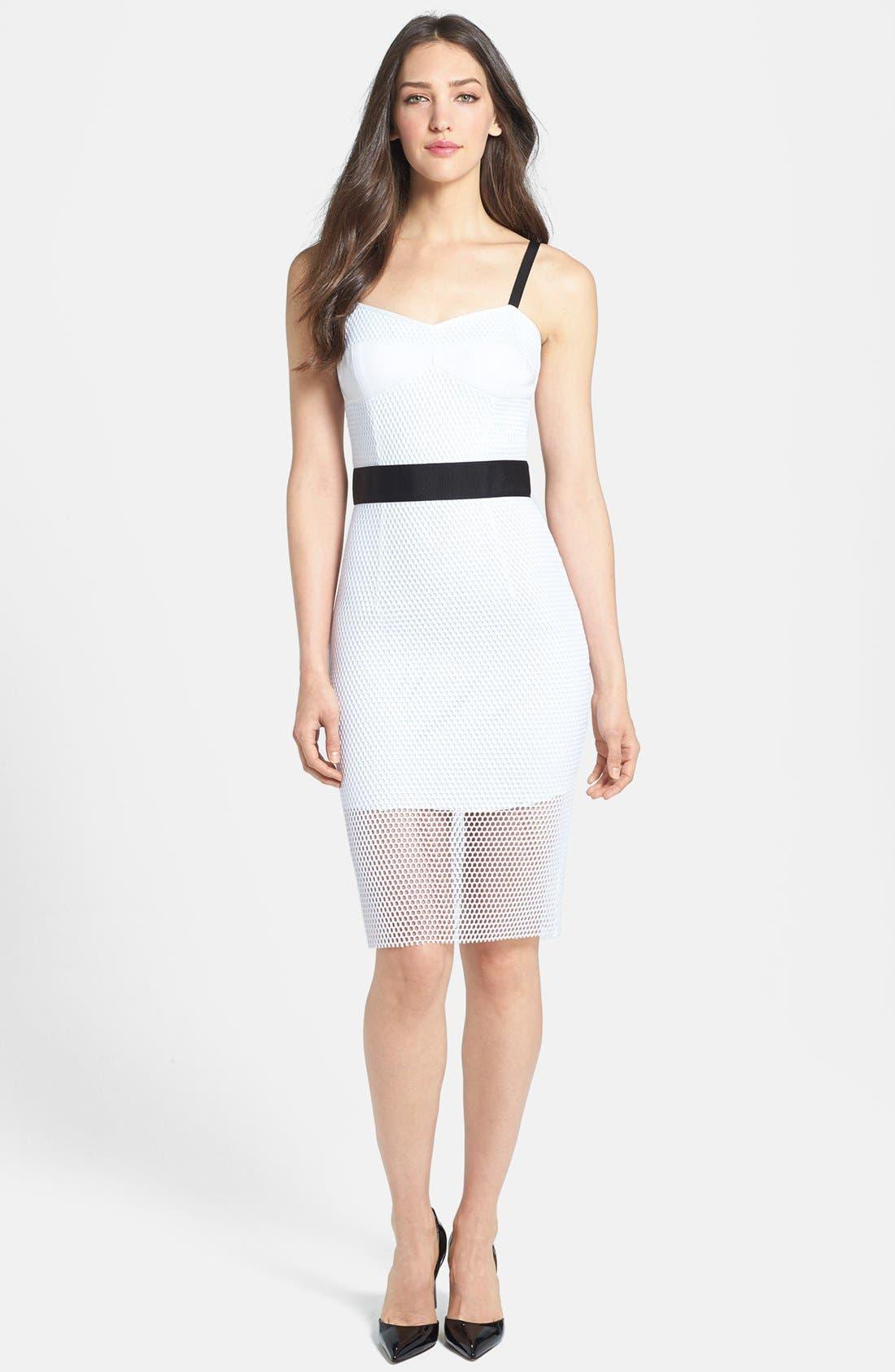 Main Image - Milly Mesh & Techno Body-Con Dress