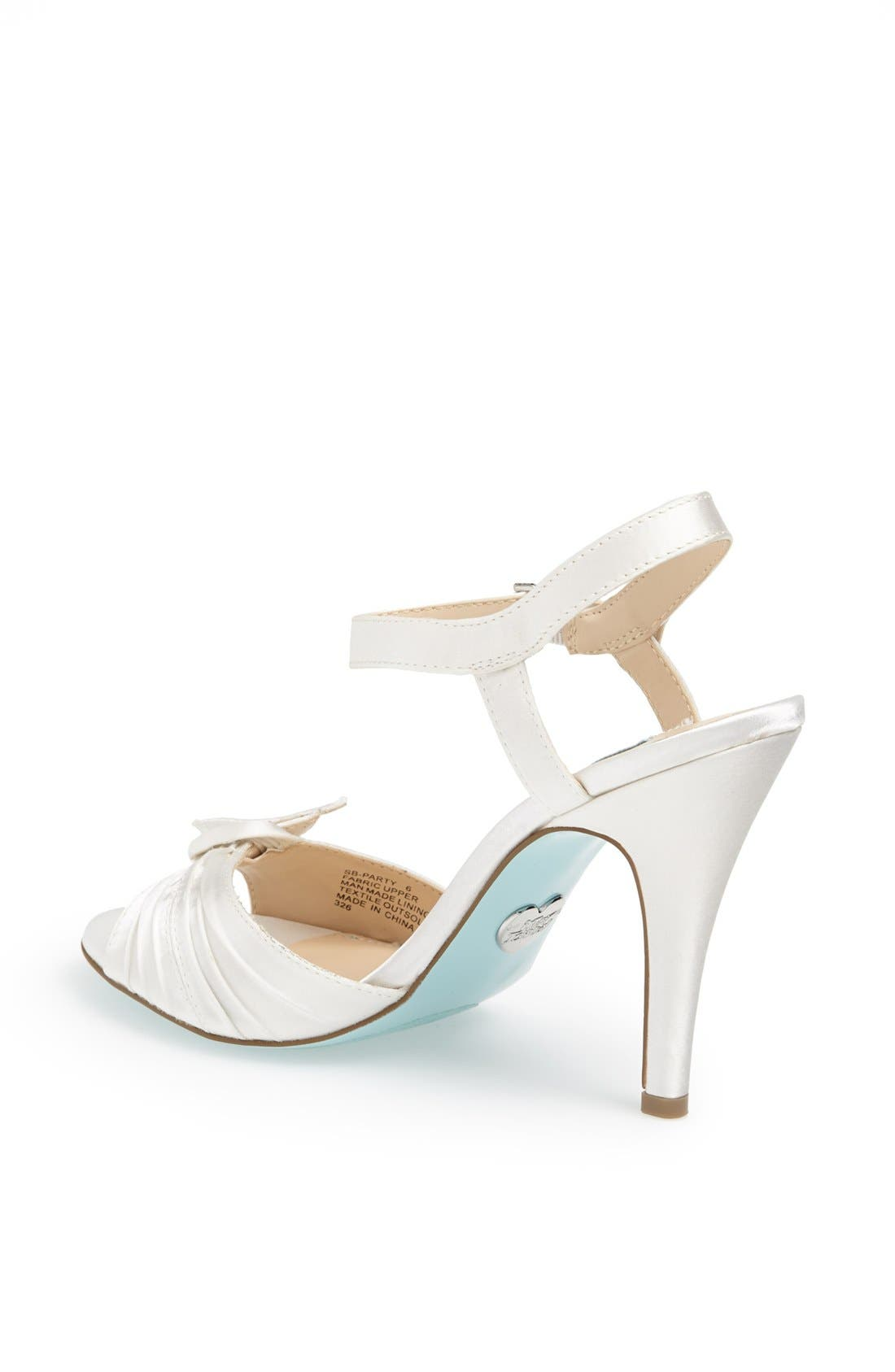 Alternate Image 2  - Blue by Betsey Johnson 'Party' Satin Sandal
