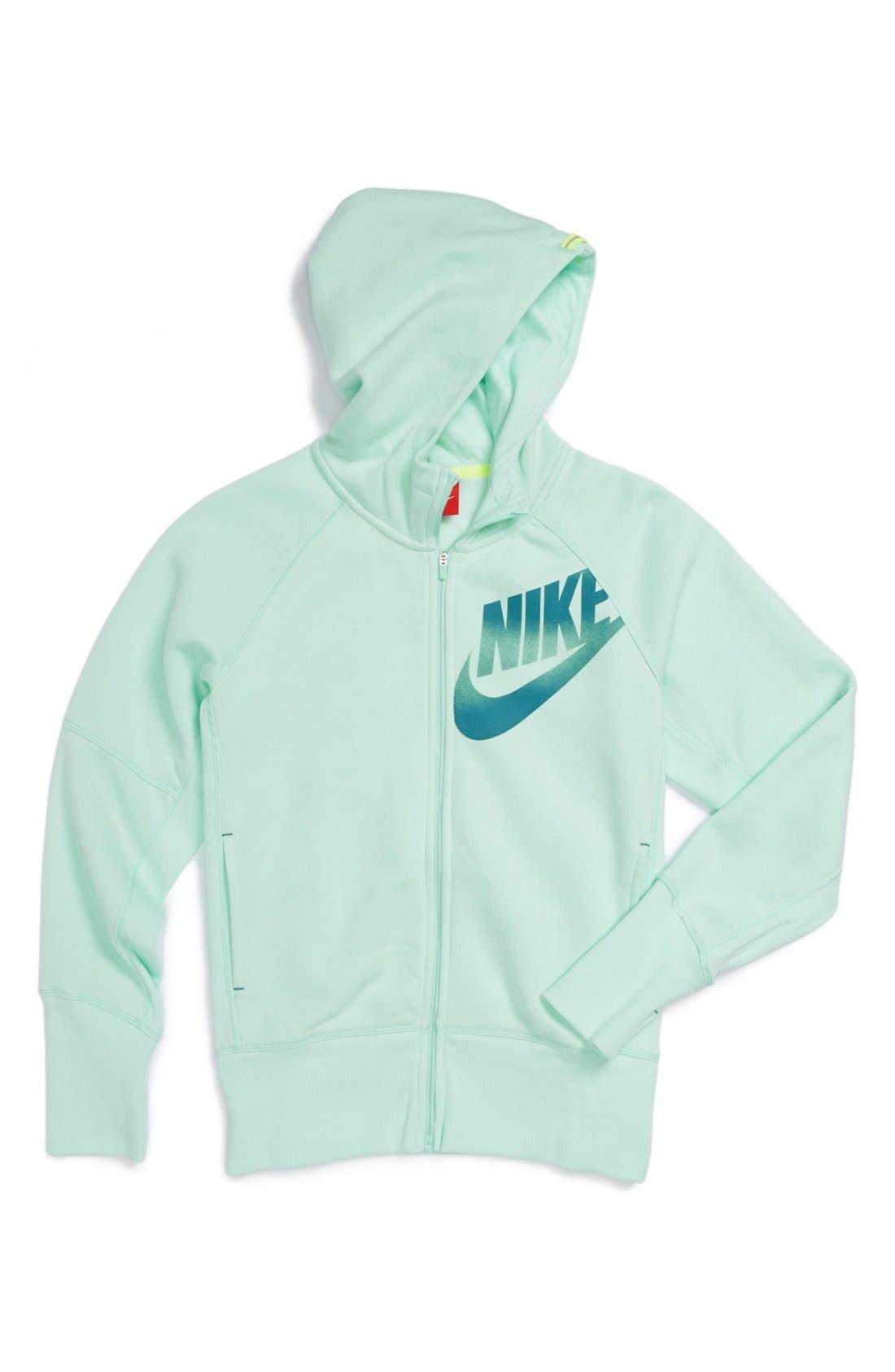 Alternate Image 1 Selected - Nike 'Heritage' Hoodie (Big Girls)