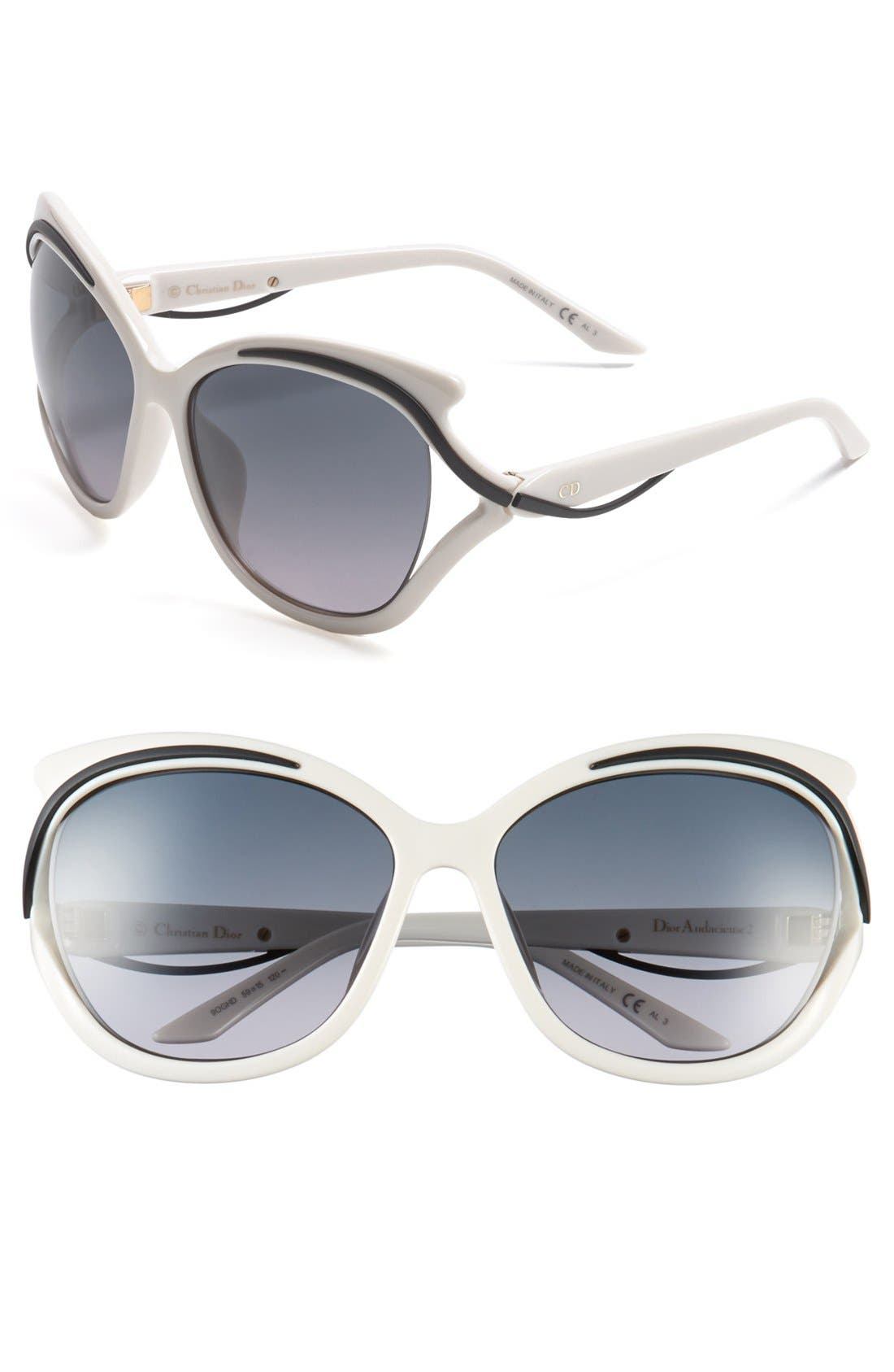 Main Image - Dior 'Audacieuse' 59mm Butterfly Sunglasses