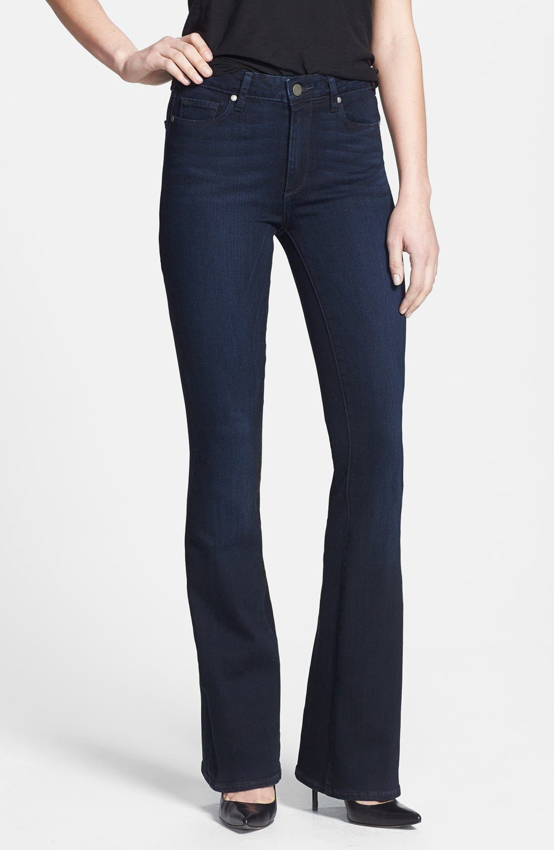 Main Image - Paige Denim 'Canyon' High Rise Bell Bottom Jeans (Peyton)