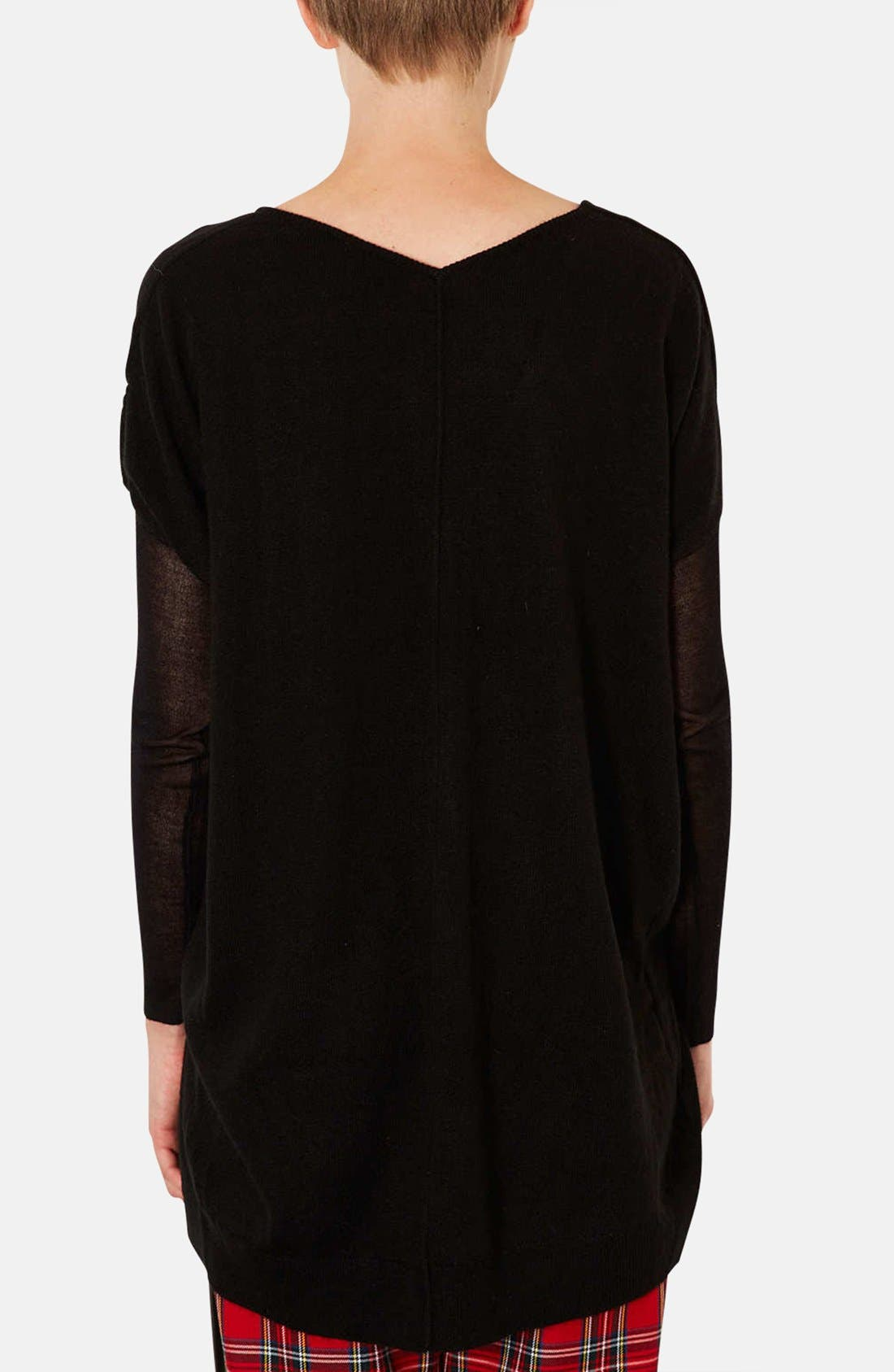 Alternate Image 2  - Topshop Lightweight V-Neck Sweater