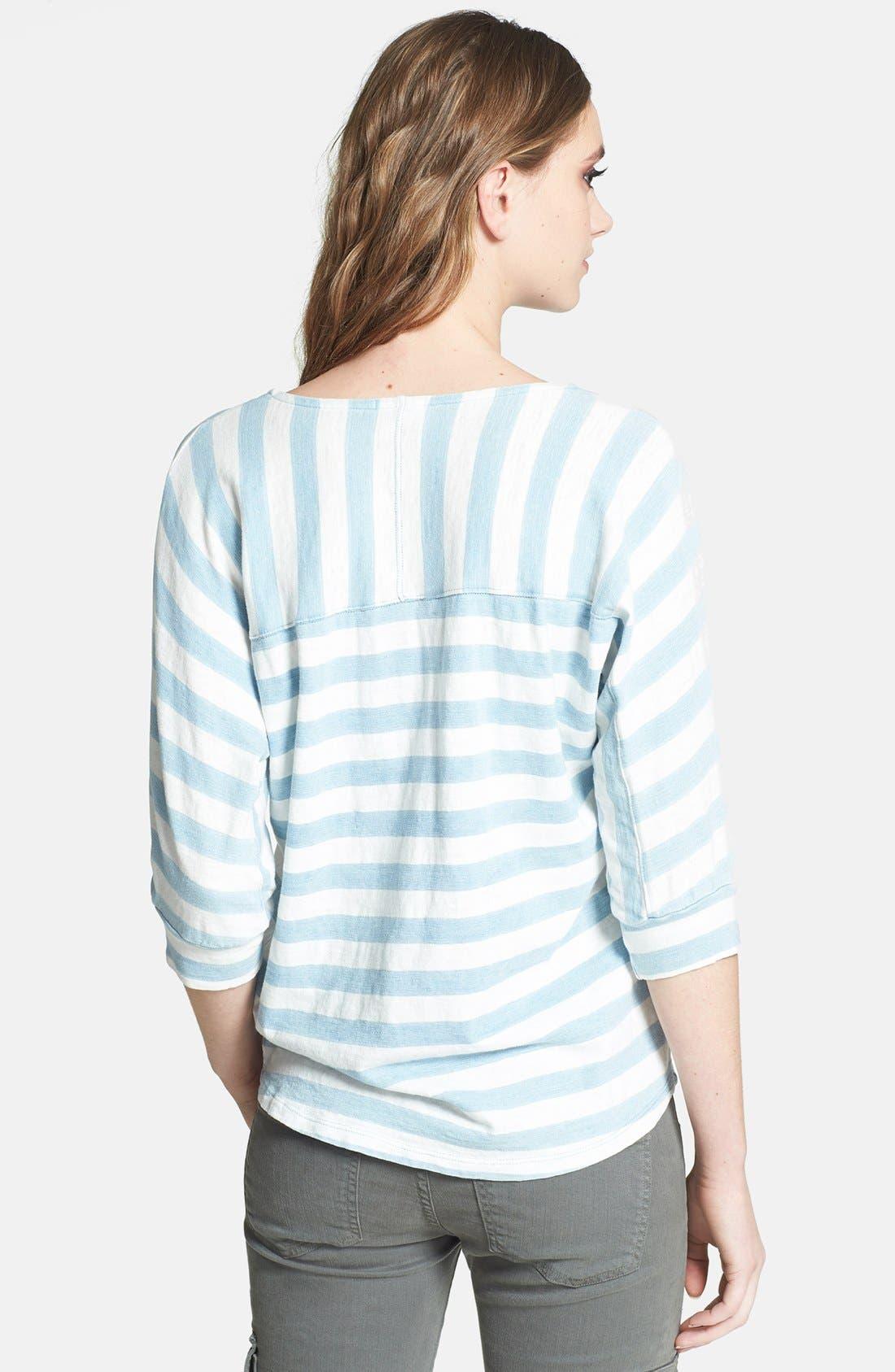 Alternate Image 2  - Splendid Stripe Dolman Sleeve Cotton Top