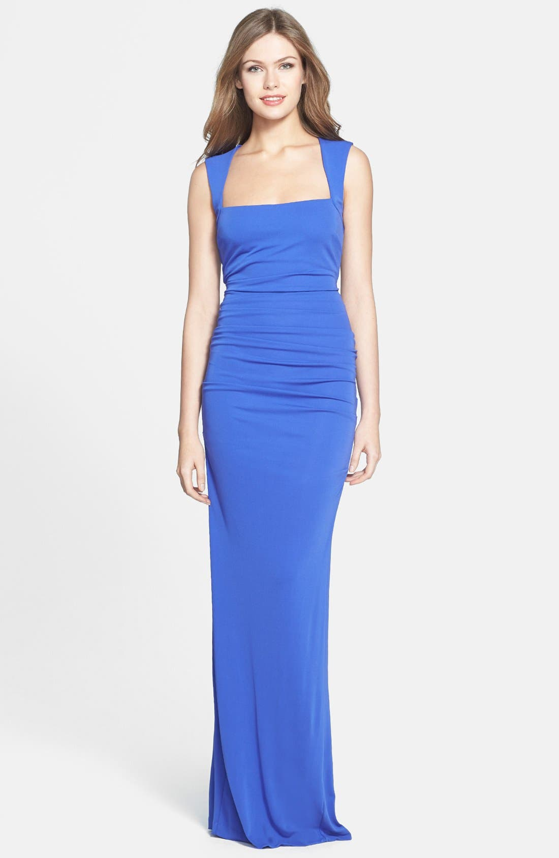 Main Image - Nicole Miller Ruched Matte Jersey Gown