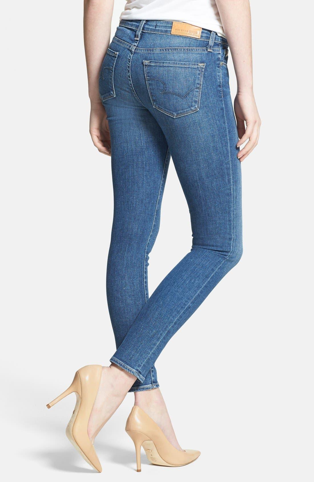 Alternate Image 2  - Big Star 'Alex' Stretch Skinny Jeans (Holly Medium)