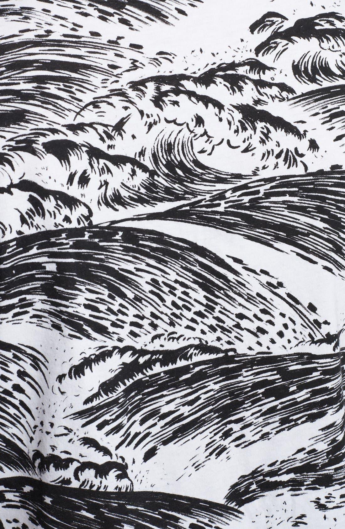 Alternate Image 3  - KENZO Wave Print Crewneck T-Shirt