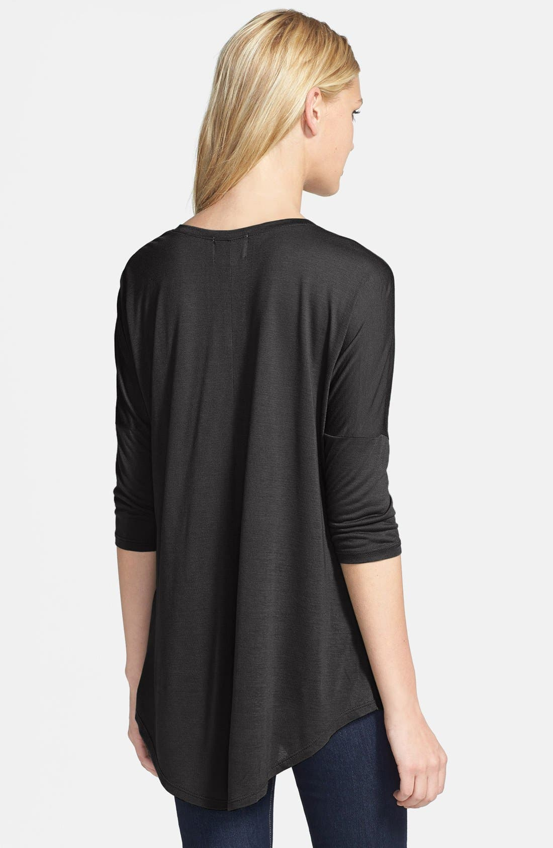 Alternate Image 2  - Madison & Berkeley Dolman Sleeve Jersey Top