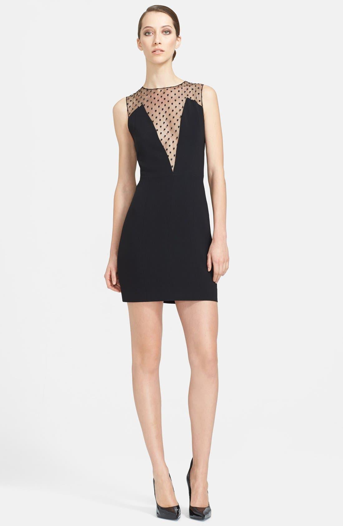 Alternate Image 1 Selected - Saint Laurent Illusion Dot Yoke Dress