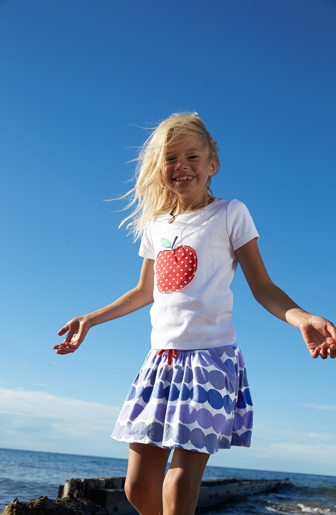 Alternate Image 2  - Mini Boden 'Dotty' Appliqué Tee (Toddler Girls, Little Girls & Big Girls)