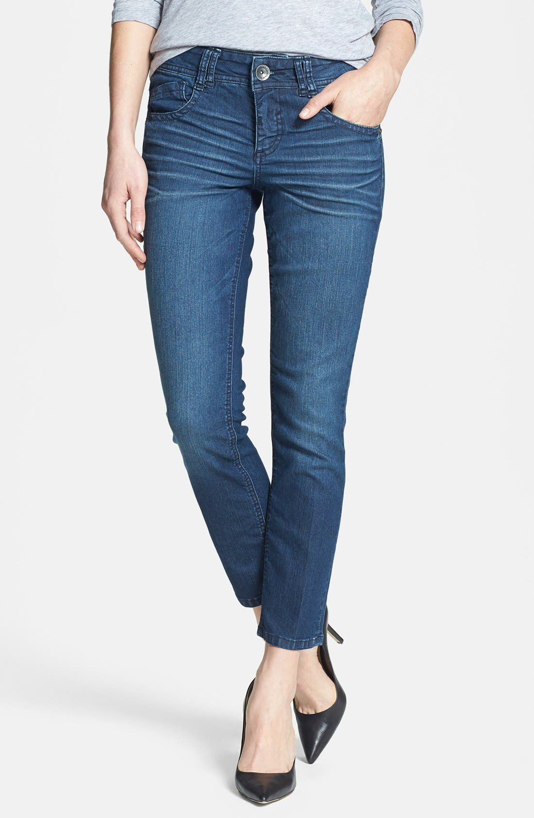 Main Image - Wit & Wisdom Stretch Ankle Skinny Jeans (Tencel Indigo) (Nordstrom Exclusive)