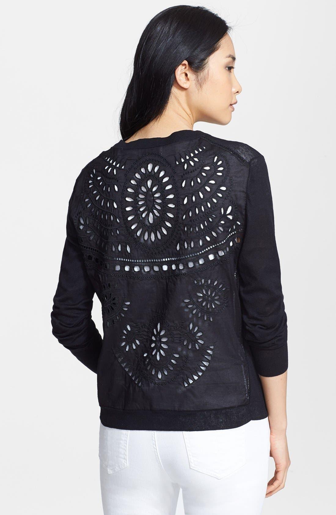 Alternate Image 2  - Loma 'Alex' Embroidered Linen & Cotton Cardigan