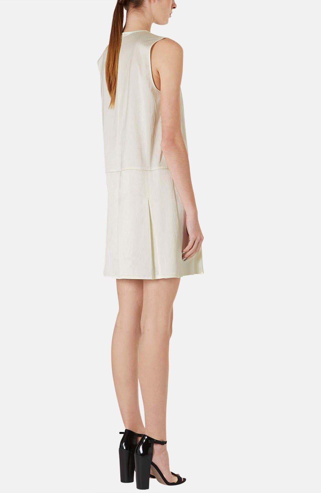 Alternate Image 2  - Topshop Pleated Silk Shift Dress