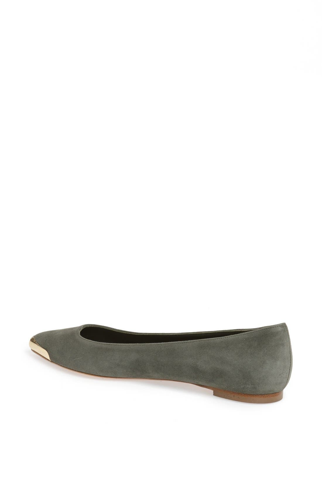 Alternate Image 2  - Alexander McQueen Metal Toe Ballet Flat