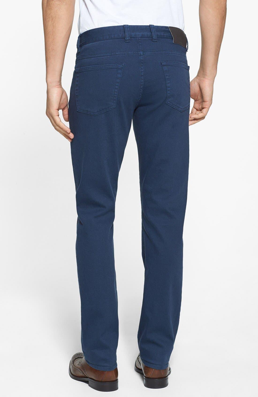 Alternate Image 2  - Canali Stretch Cotton Pants