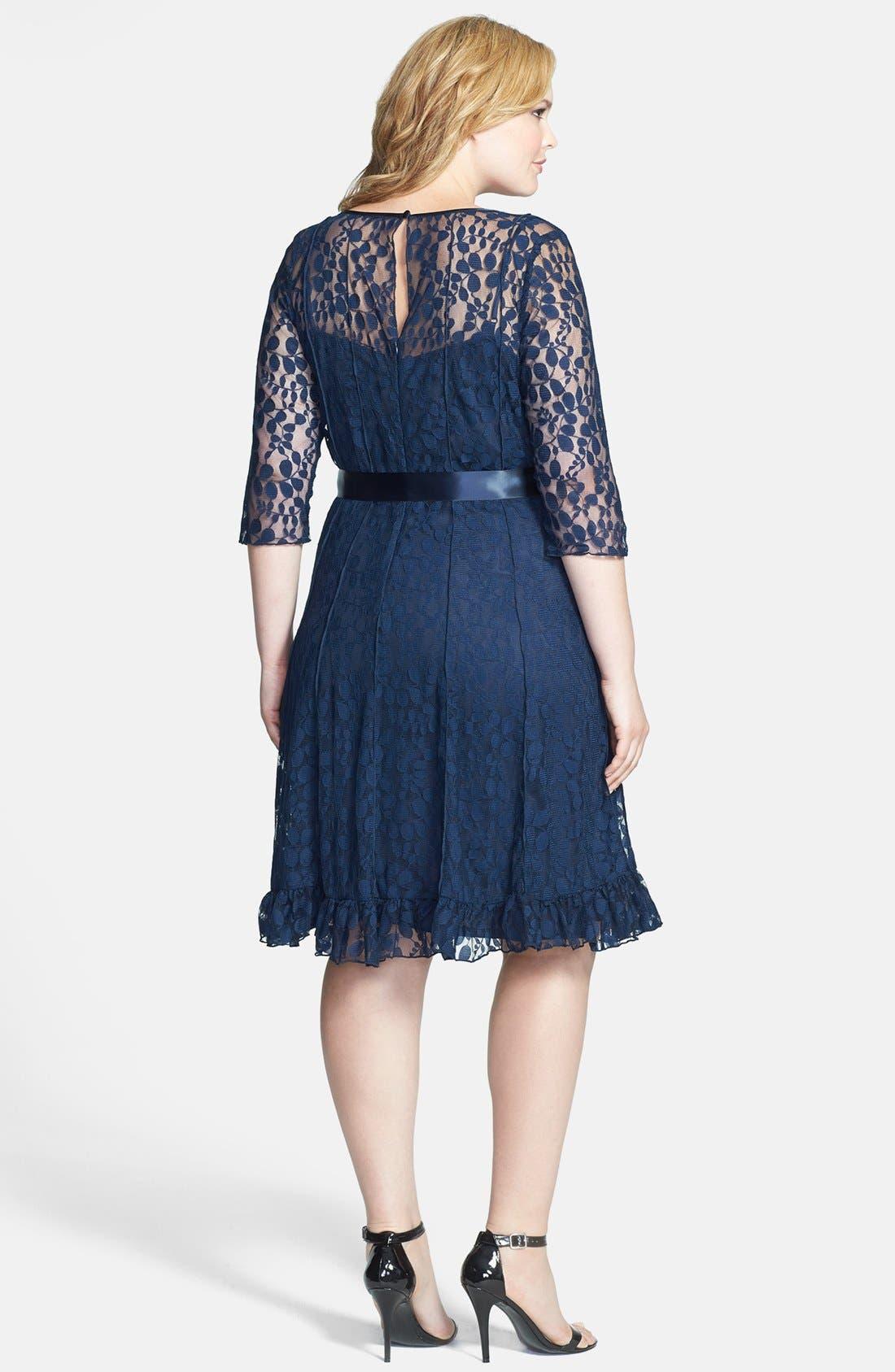 Alternate Image 2  - Jessica Howard Lace Dress (Plus Size)