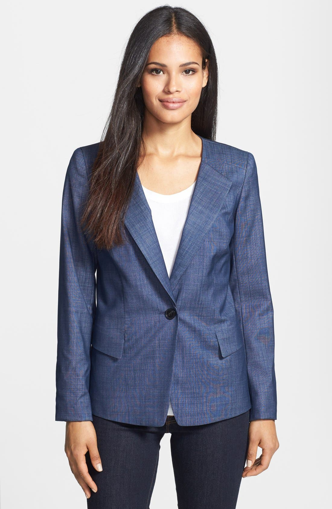 Alternate Image 1 Selected - Lafayette 148 New York 'Janelle - Regent Suiting' Jacket