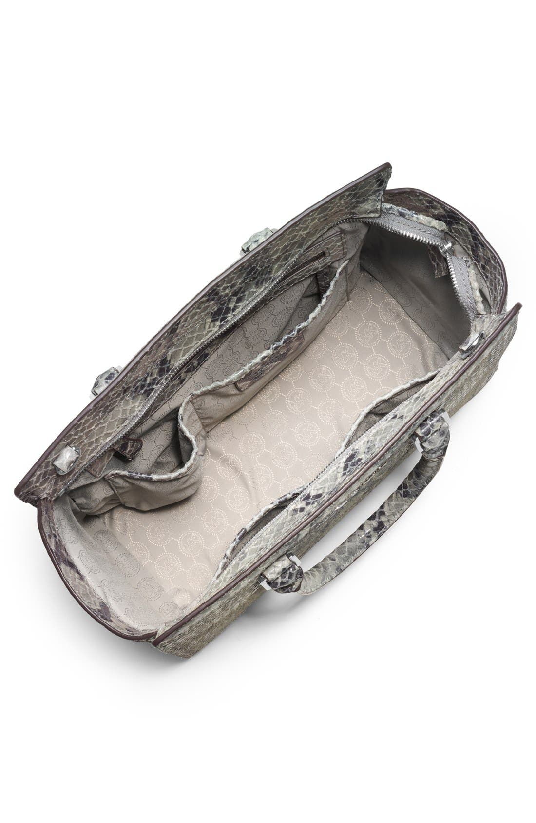 Alternate Image 3  - MICHAEL Michael Kors 'Large Selma' Snake Embossed Leather Satchel