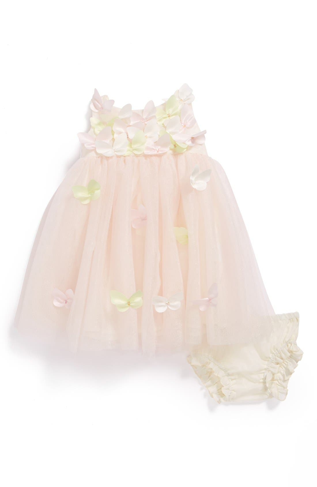 Alternate Image 1 Selected - Biscotti 'Balrina' Dress & Bloomers (Baby Girls)