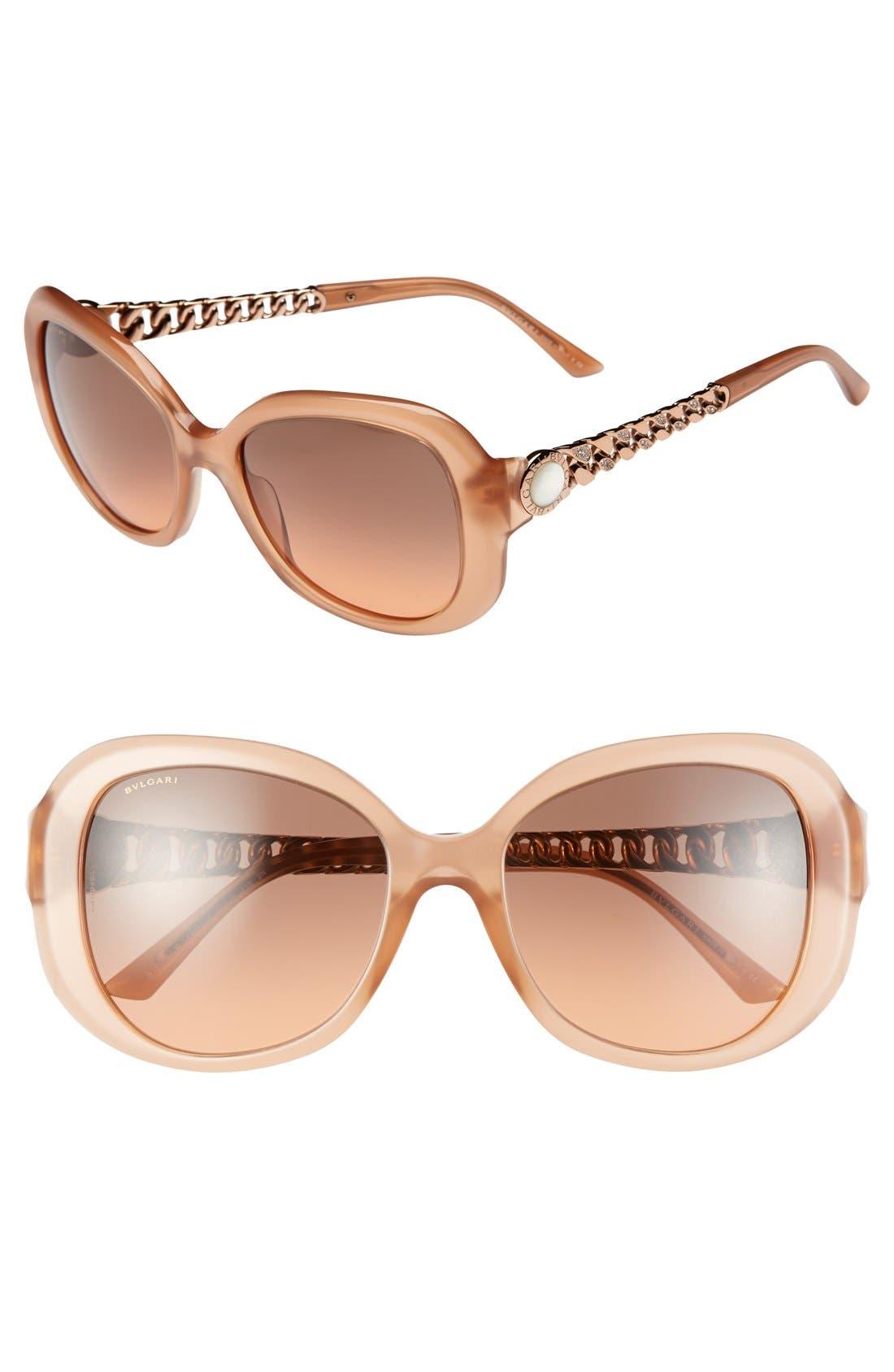 Alternate Image 1 Selected - BVLGARI 56mm Oversized Sunglasses