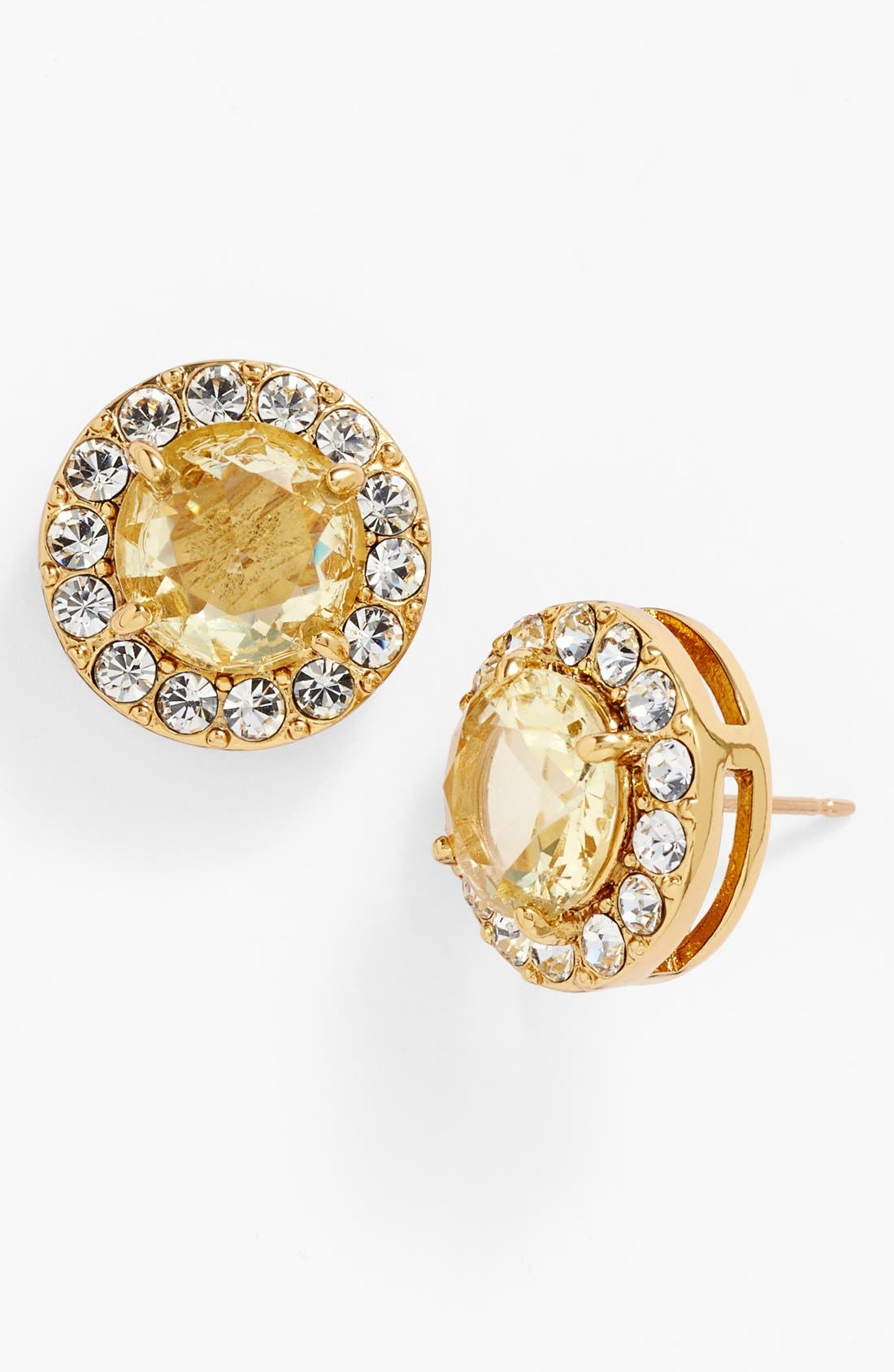 Main Image - kate spade new york 'basket pavé' stud earrings