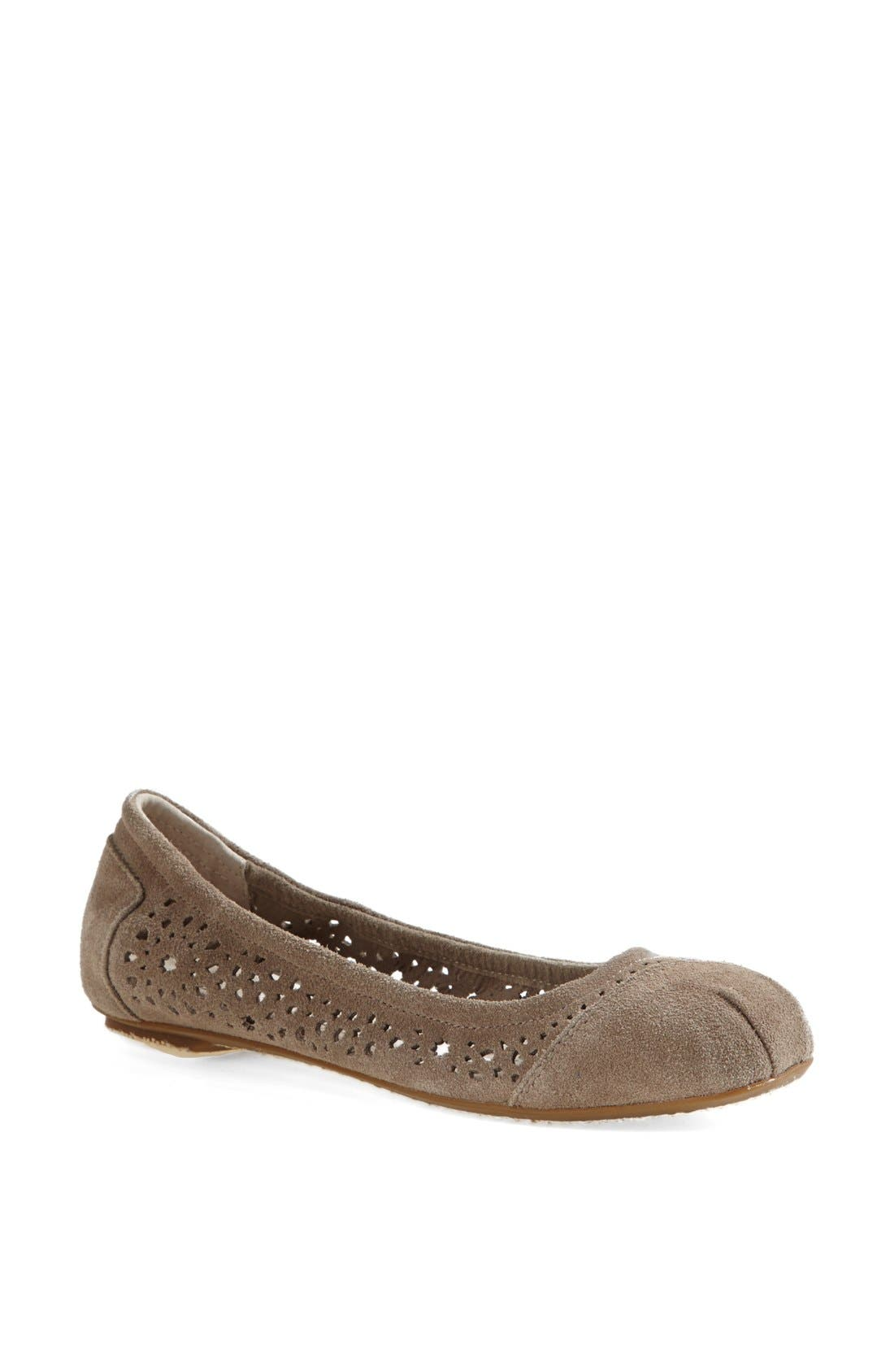 Main Image - TOMS 'Moroccan' Perforated Ballet Flat (Women)