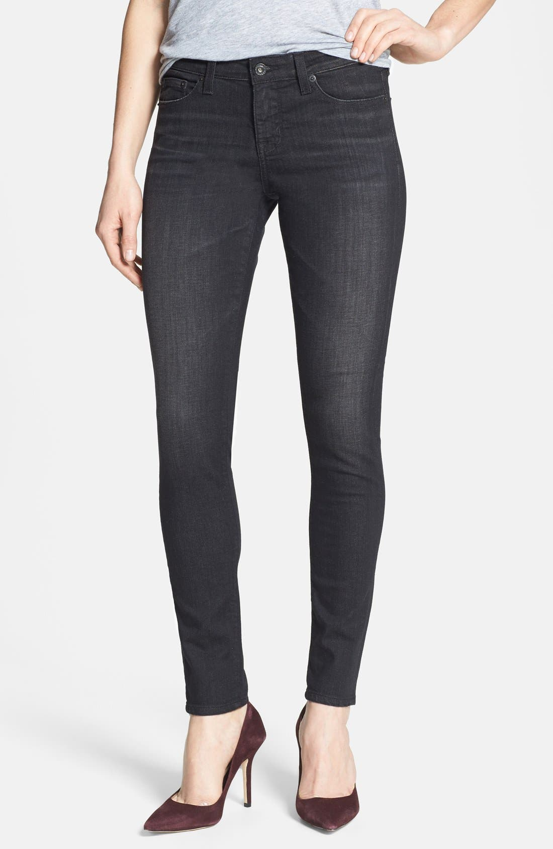 Alternate Image 1 Selected - Big Star 'Alex' Stretch Skinny Jeans (Aragon) (Petite)