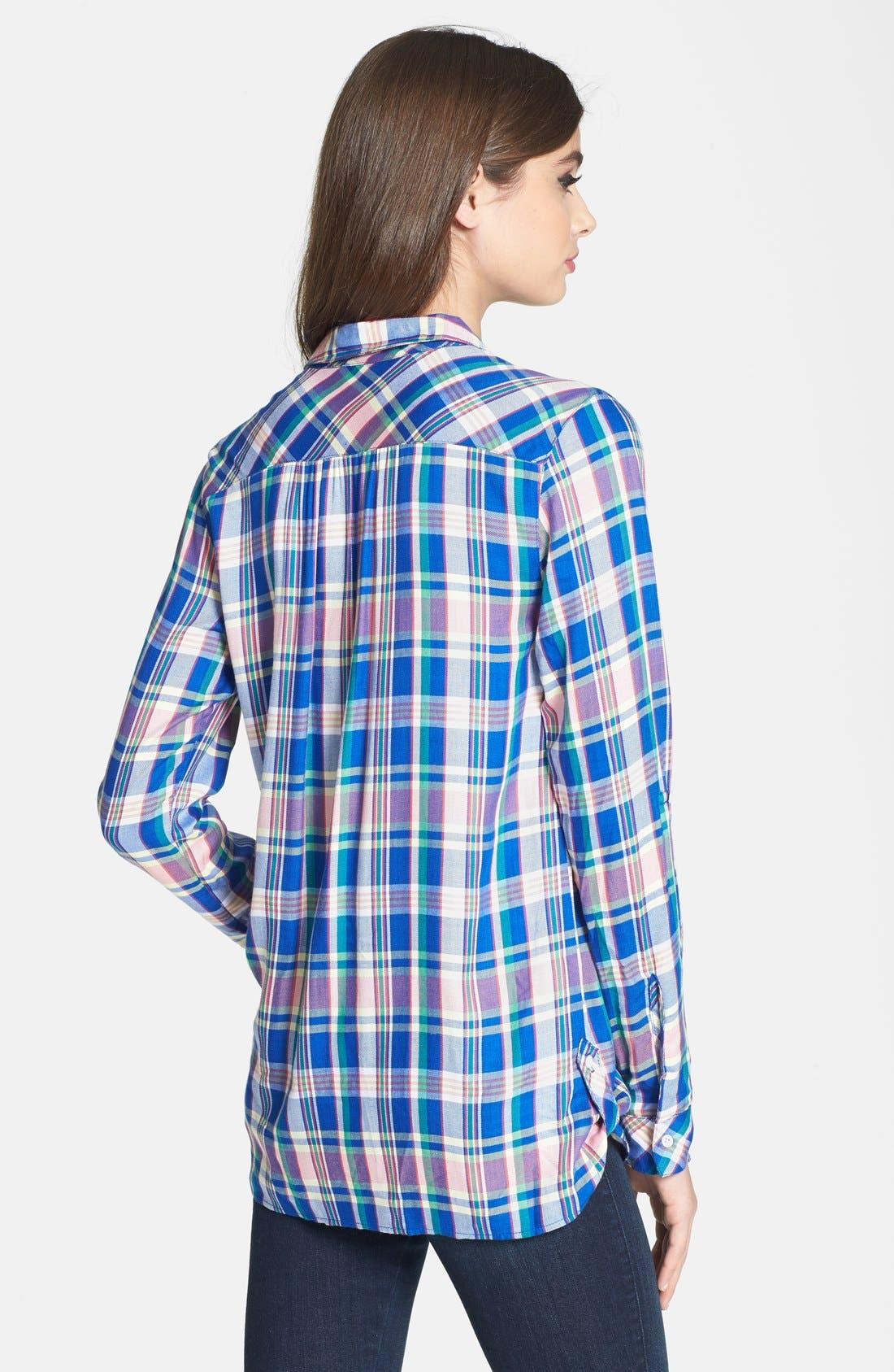 Alternate Image 2  - C & C California Welt Pocket Plaid Tunic Shirt