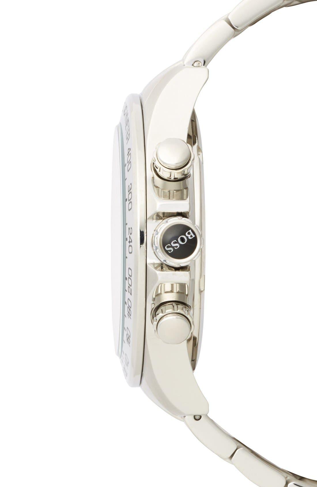 Alternate Image 3  - BOSS HUGO BOSS Round Chronograph Bracelet Watch, 44mm