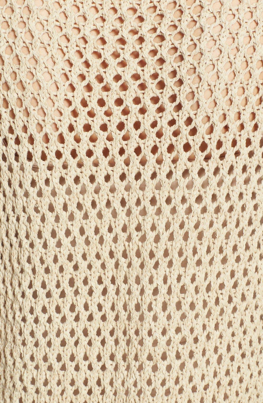 Alternate Image 3  - Vince Camuto Open Stitch Cotton Blend Sweater