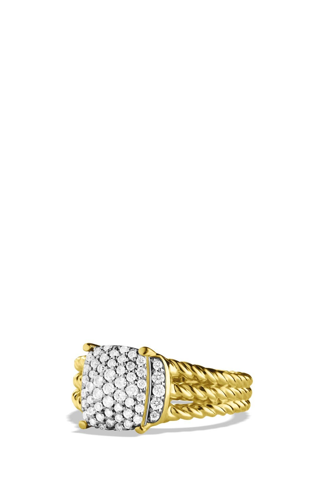 Alternate Image 1 Selected - David Yurman 'Wheaton' Petite Ring with Diamonds in Gold