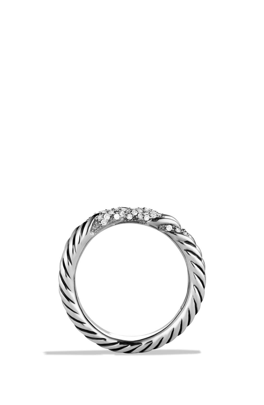 Alternate Image 4  - David Yurman 'Willow' Three-Row Ring with Diamonds
