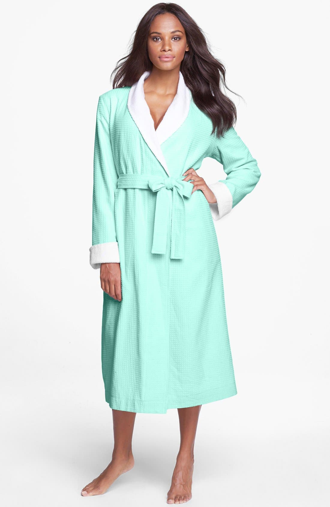 Alternate Image 1 Selected - Nordstrom Lingerie Terry Lined Waffle Robe