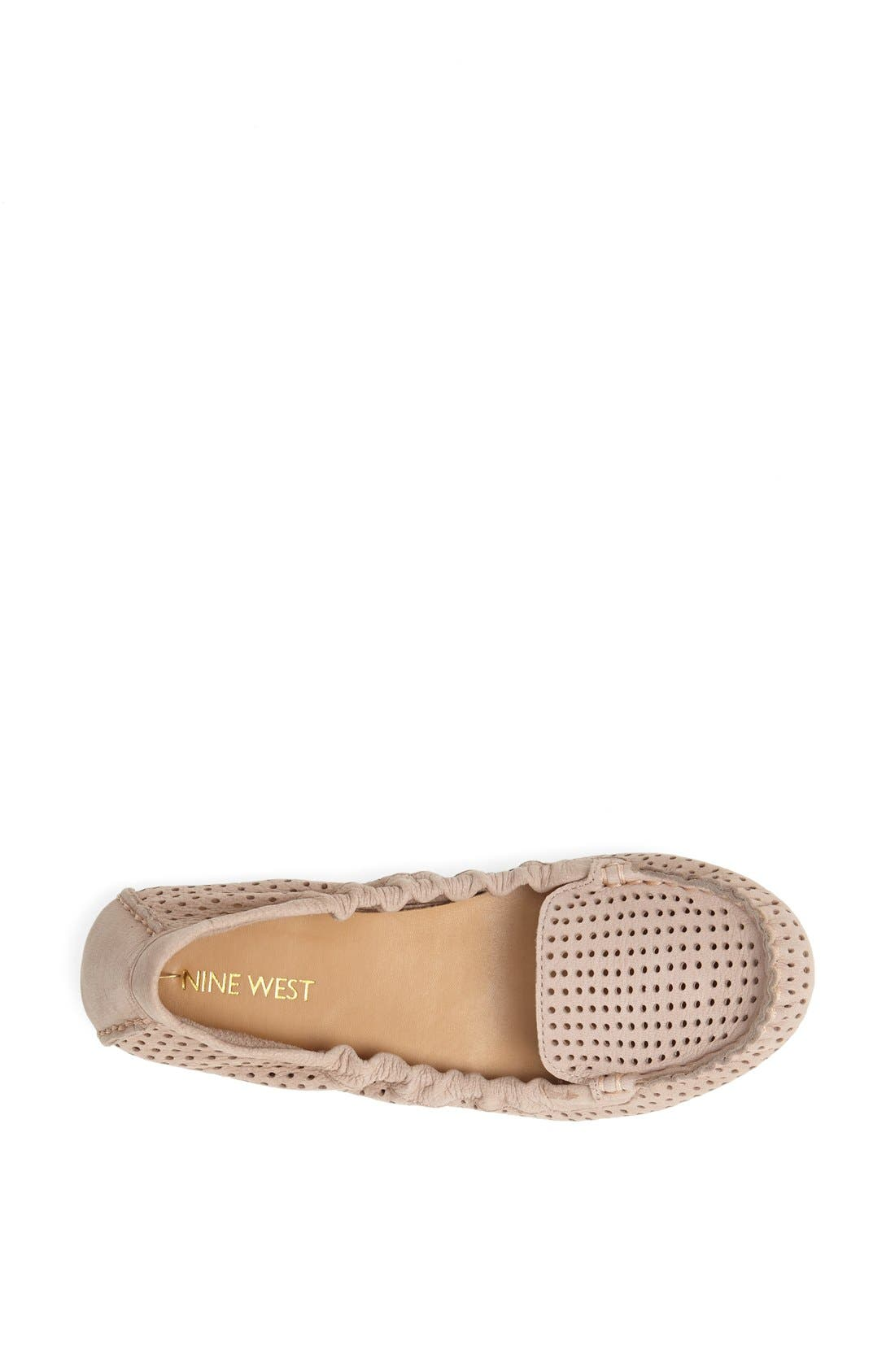 Alternate Image 3  - Nine West 'Teanna' Perforated Nubuck Flat